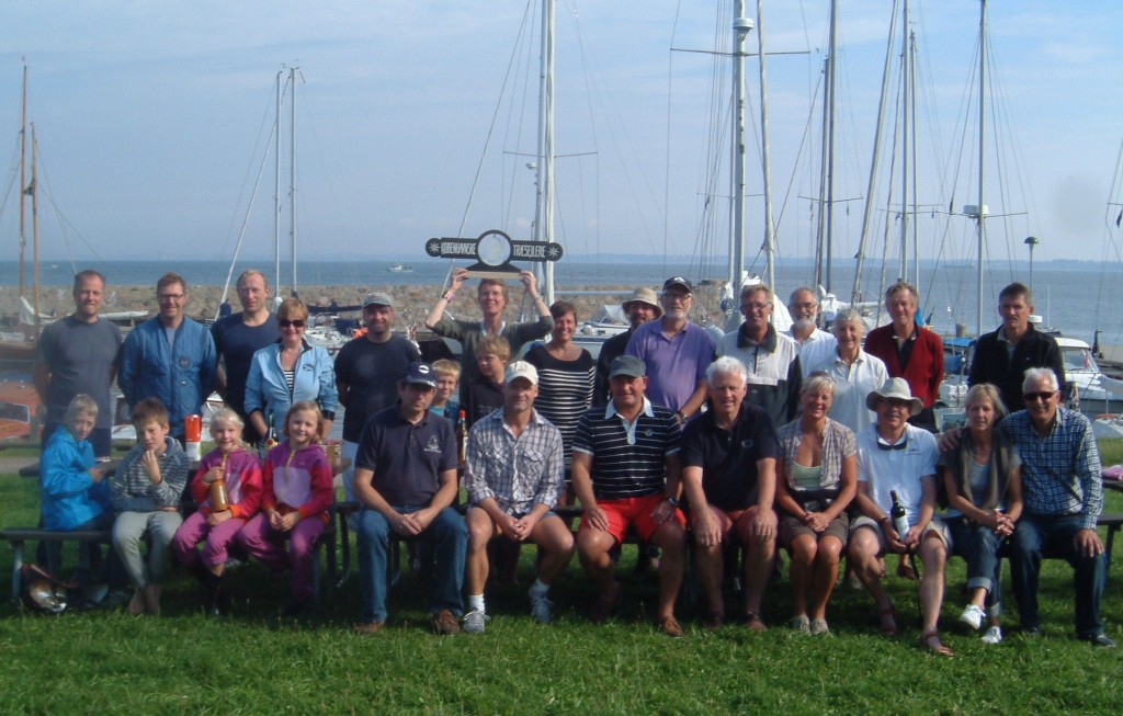 Deltagerne på Hveen-turen 2011- i Nordborg Havn